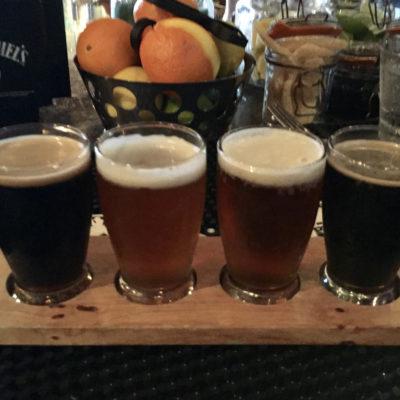Beer Flight at the Upper West; photo by Kathy Leonardo; courtesy of ETG