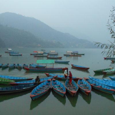 Phewa Lake, Pokhara in morning; Photo by Michelle Page; courtesy of ETG