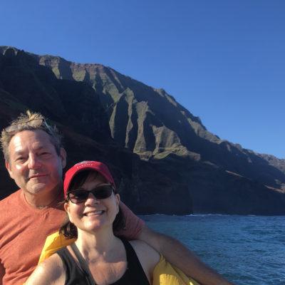 Richard Bilow, and Kathy Leonardo at the Na Pali Coast