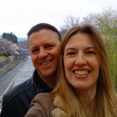 Gregg Chadwick with his wife MarySue in Japan