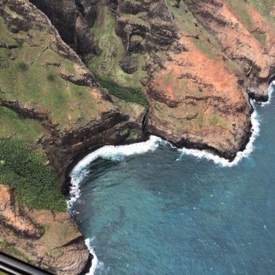 Na Pali Coast, Mauna Loa Helicopter Tours; photo by Kathy Leonardo; courtesy of ETG