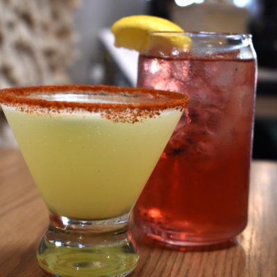 Spicy Margarita, Spring Trellis iced tea; photo by Steve DePena