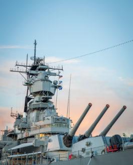 San Pedro, CA: Battleship IOWA Museum, Gun Tour